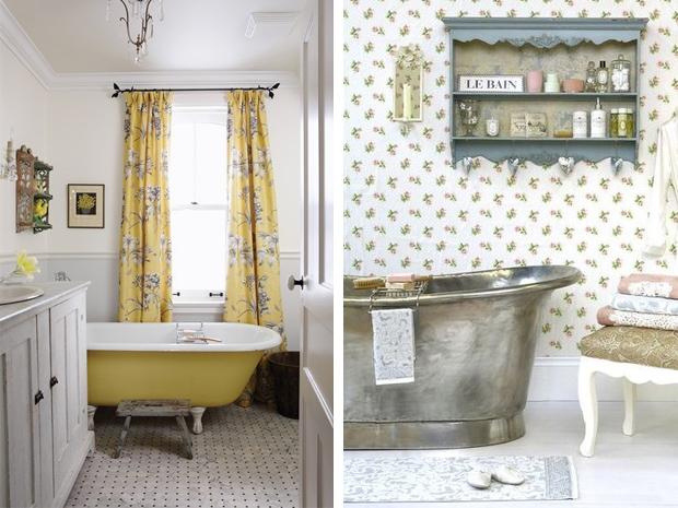 nel bagno possono essere inseriti degli elementi antichi che richiamano limpronta della casa