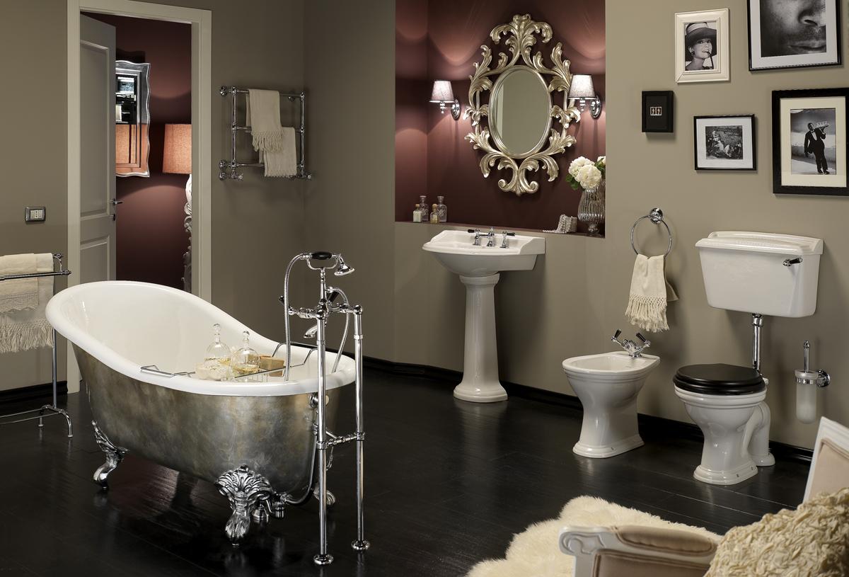 Camerette stile inglese le diverse sfumature di viola e - Mobili bagno stile inglese ...