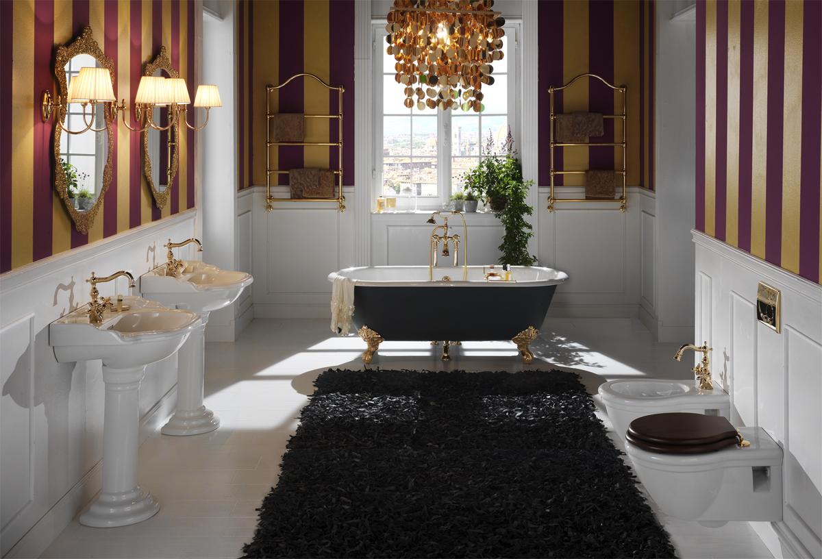 Stile british il ritorno al vintage arredosalaria - Mobili bagno stile inglese ...
