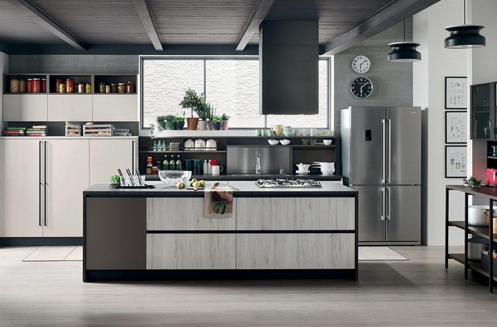 Cucina in stile industriale, come scegliere arredi e piani in top