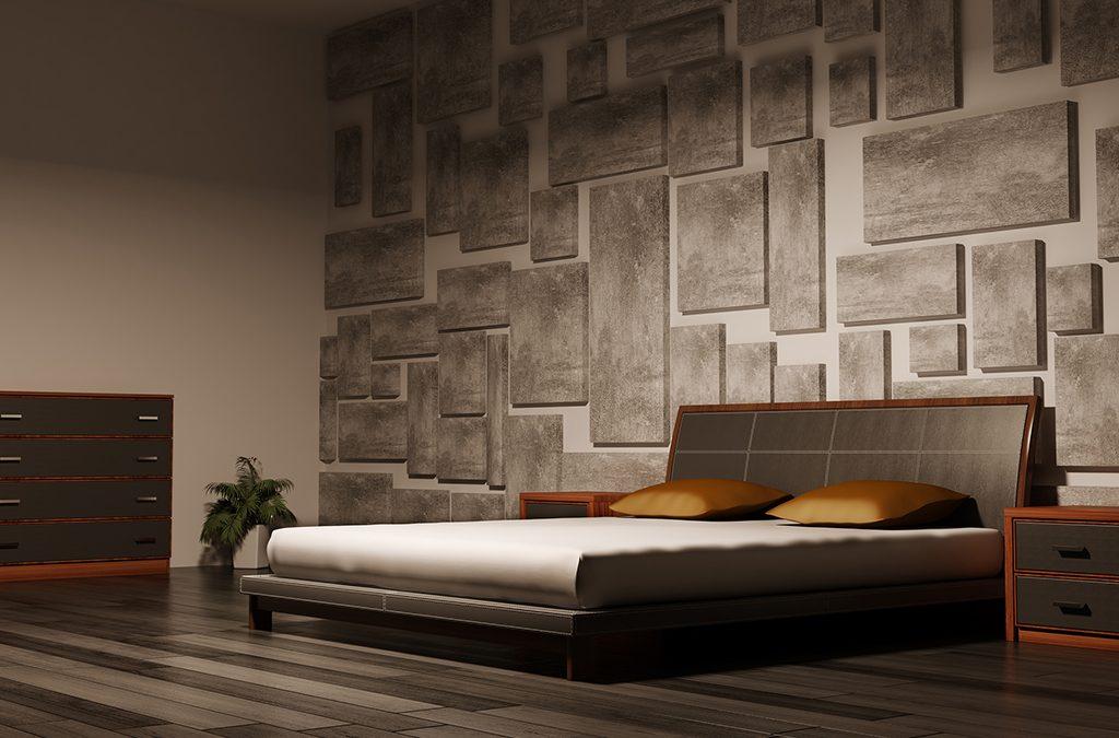 Pareti in pietra in camera da letto, una scelta di stile